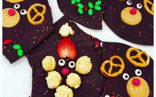 Weihnachtliche Bruchschokolade