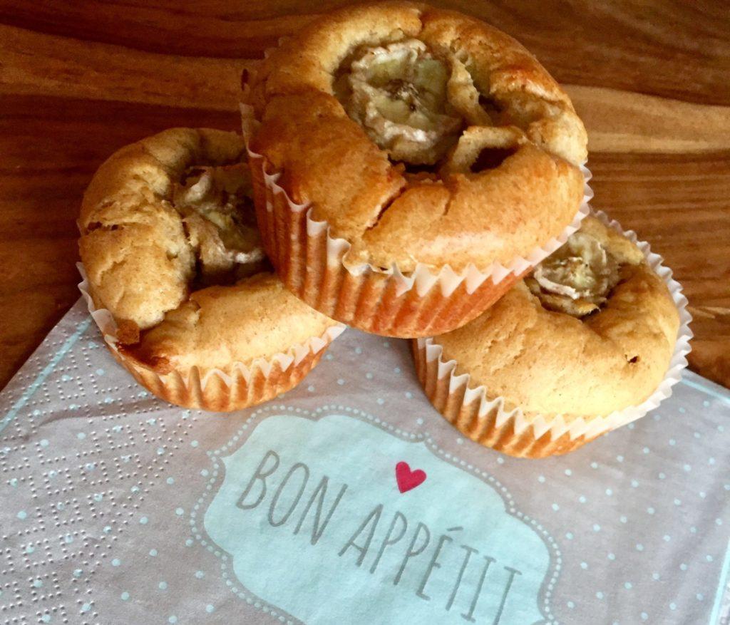 Monkey Muffins Bananenmuffins als Snack für Kinder