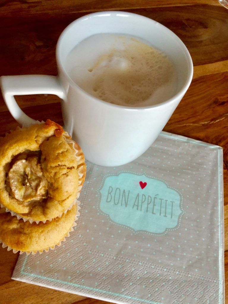Monkey Muffins frische Bananenmuffins zum Kaffee