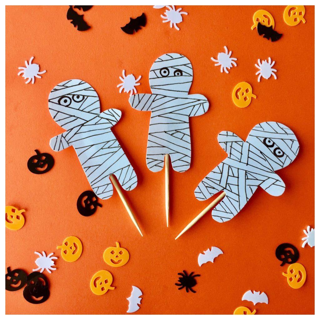 Schnelle, selbstgemachte Caketopper für Halloween.