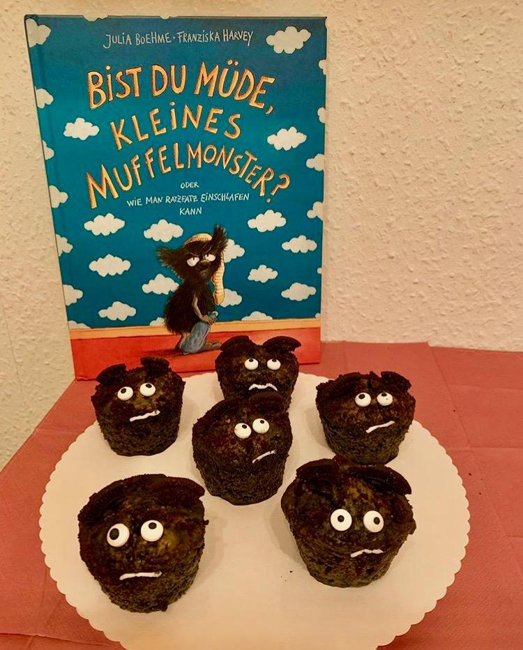 """Süße Monstermuffins ganz nach dem Kinderbuch """"Bist du müde, kleines Muffelmonster?"""""""