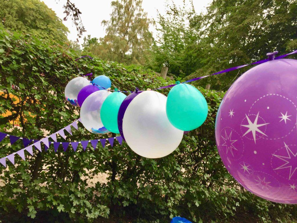 Unsere Partydeko für unsere Meerjungfrauen Party