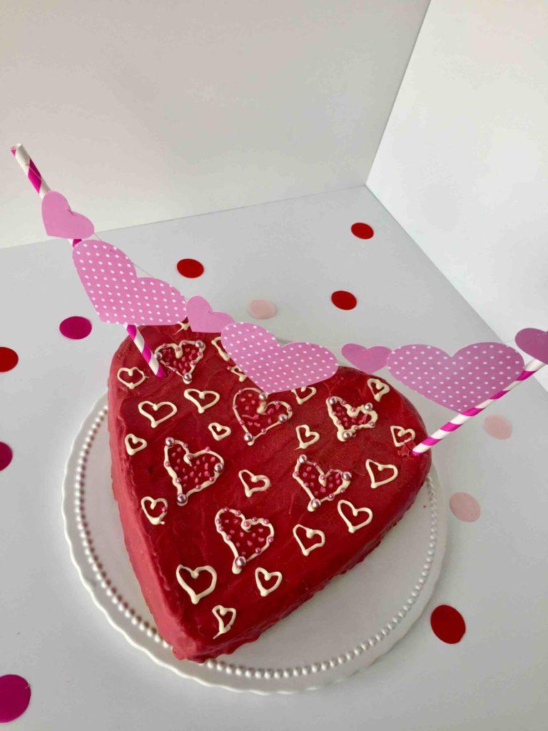 Herz-Caketopper zum Muttertag oder Valentinstag