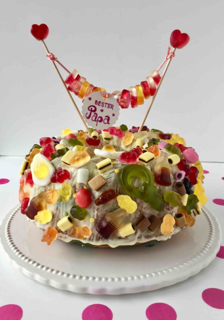 Caketopper aus Weingummi für die Naschkatzen zum Geburtstag