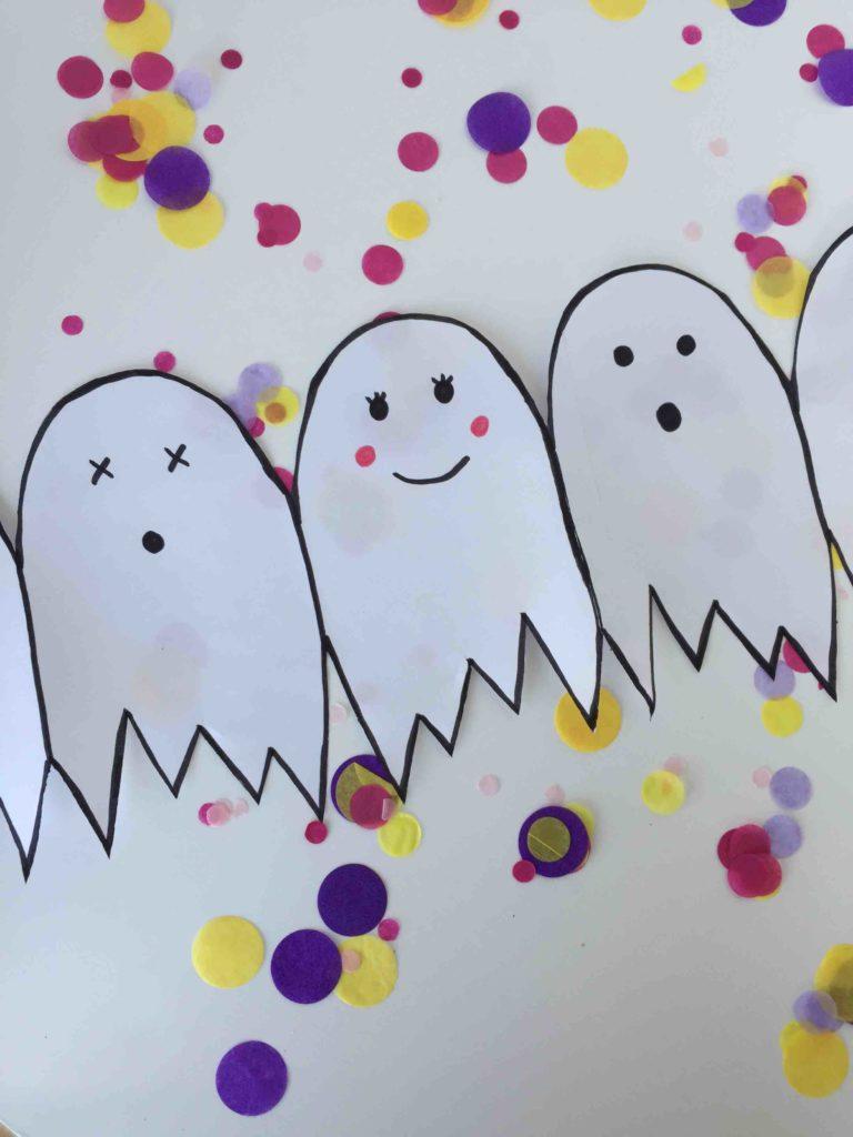 Die kinderleichte DIY Halloween Geistergirlande