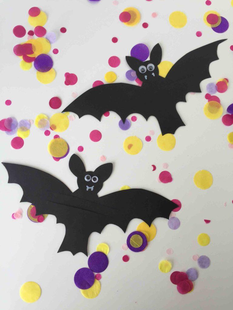 DIY Fledermaus Halloweendeko für Kinder mit Download Vorlage