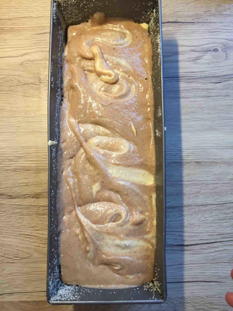 Ein Marmorkuchen mit Nutella Füllung für den nächsten Kindergeburtstag